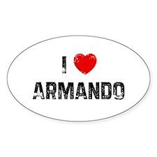 I * Armando Oval Decal