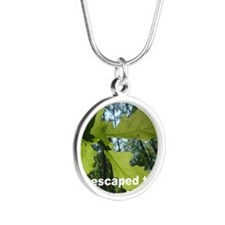 Oak leaves, Denny Wood bear Silver Round Necklace