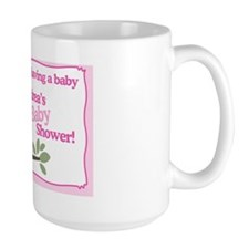 Pink Hoot Owl Baby Shower Yard Sign Mug
