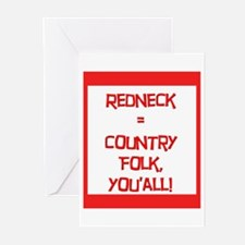 Redneck = Country Folk Greeting Cards (Package of