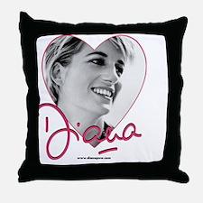 DianaPinkHeart Throw Pillow