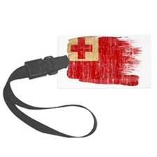 Tongatex3-paint style aged copy Luggage Tag