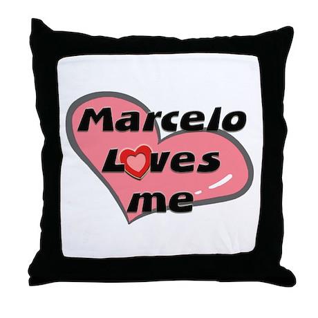 marcelo loves me Throw Pillow