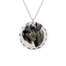 Schnauzer Necklace Circle Charm