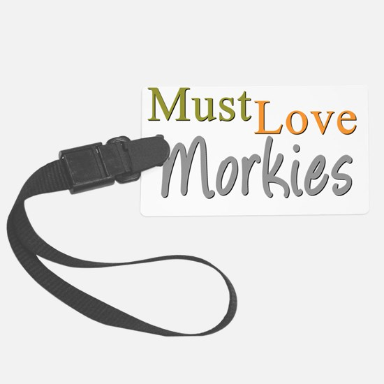 mustlovemorkies Luggage Tag