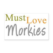 mustlovemorkies_black Rectangle Car Magnet