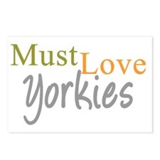 mustloveyorkies_black Postcards (Package of 8)