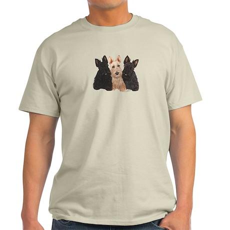 Scottish Terrier - 3 puppies Light T-Shirt