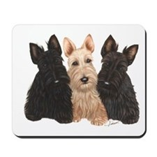 Scottish Terrier - 3 puppies Mousepad