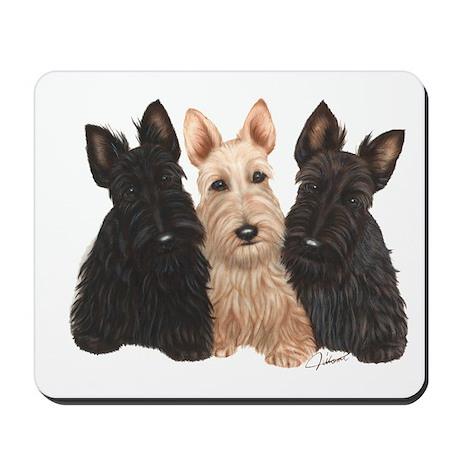 Scottish Terrier - 3 puppies Mousepad