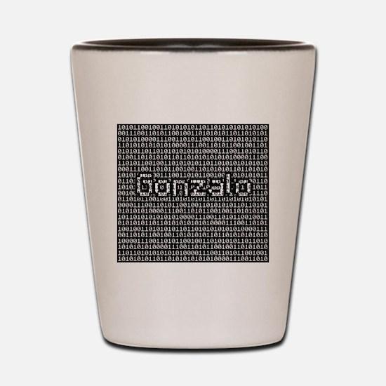 Gonzalo, Binary Code Shot Glass