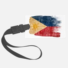 Philippinestex3-paint style aged Luggage Tag