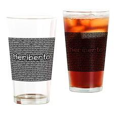 Heriberto, Binary Code Drinking Glass