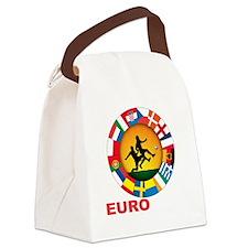 euro 2012 (blk)a Canvas Lunch Bag