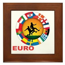 euro 2012 (blk)a Framed Tile