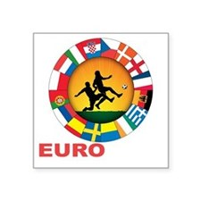 "euro 2012 (blk)a Square Sticker 3"" x 3"""