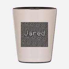 Jared, Binary Code Shot Glass