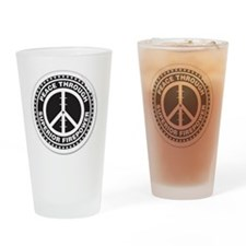Peace thru Superior Firepower Drinking Glass