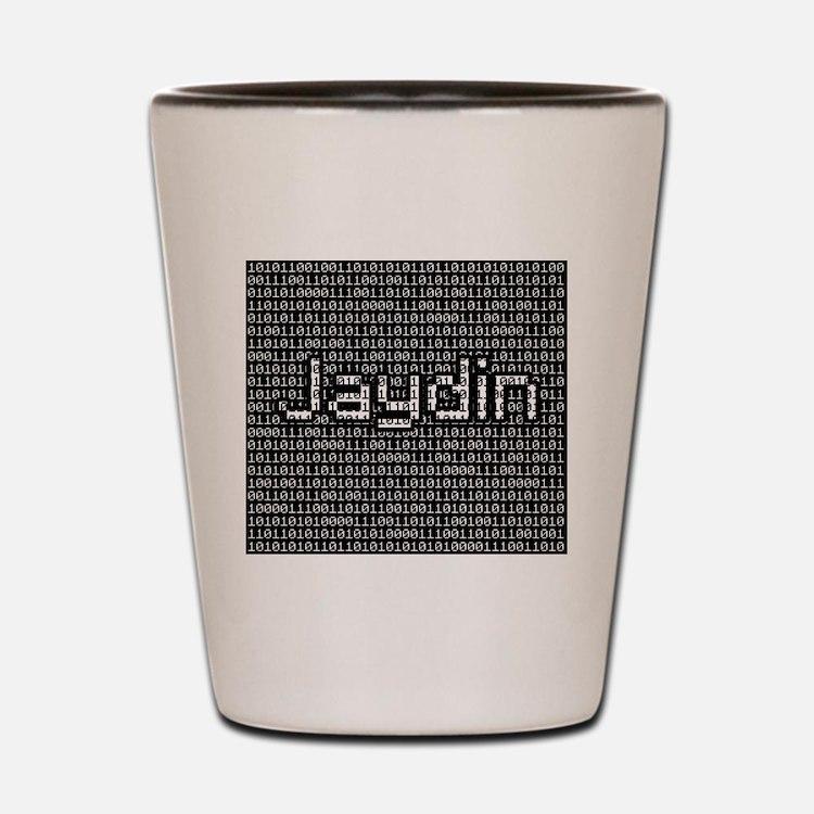 Jaydin, Binary Code Shot Glass