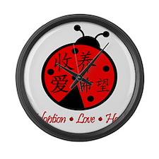 LadyBug Large Wall Clock
