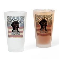 bark_obama_sticker Drinking Glass