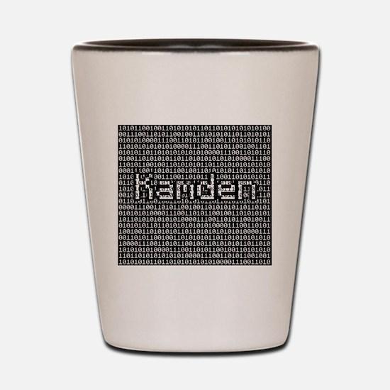 Kamden, Binary Code Shot Glass