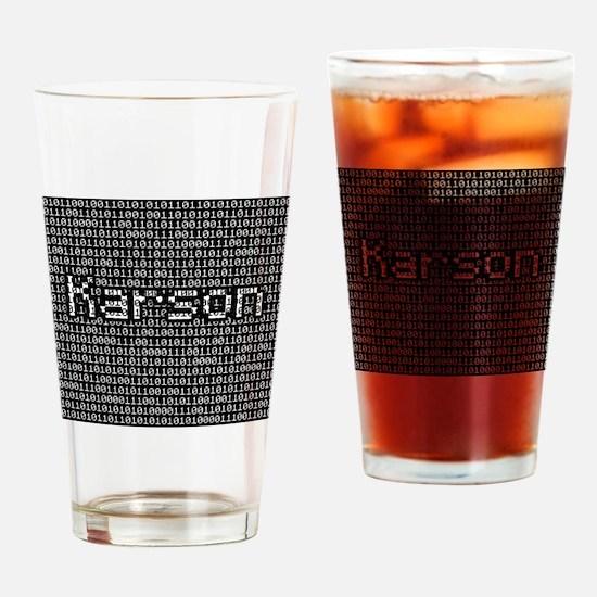 Karson, Binary Code Drinking Glass