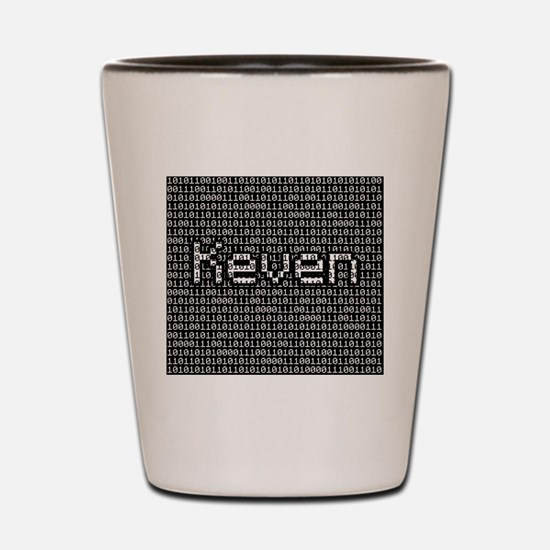 Keven, Binary Code Shot Glass