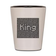 King, Binary Code Shot Glass
