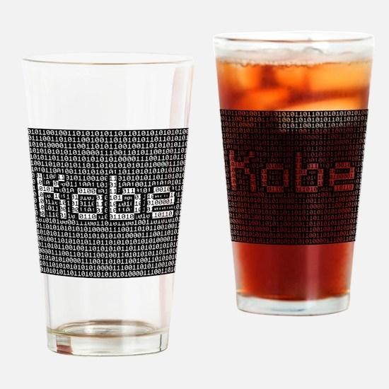 Kobe, Binary Code Drinking Glass