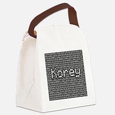 Korey, Binary Code Canvas Lunch Bag