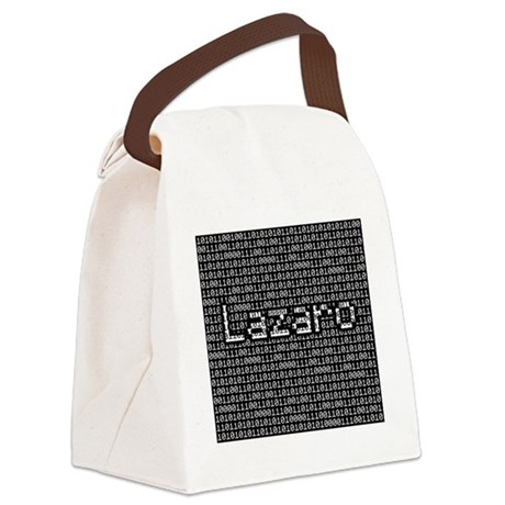 Lazaro, Binary Code Canvas Lunch Bag