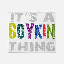 boykinthing_black Throw Blanket
