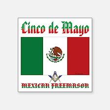 """Cinco De Mayo Mason Square Sticker 3"""" x 3"""""""