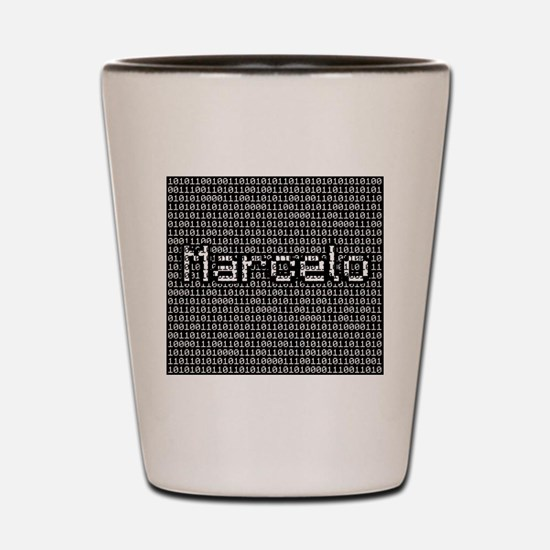 Marcelo, Binary Code Shot Glass