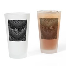 Nickolas, Binary Code Drinking Glass