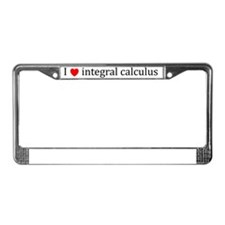 I heart integral calculus - (B License Plate Frame