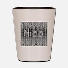 Nico, Binary Code Shot Glass