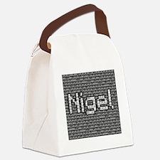 Nigel, Binary Code Canvas Lunch Bag