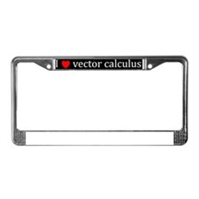 I heart vector calculus - (BS- License Plate Frame