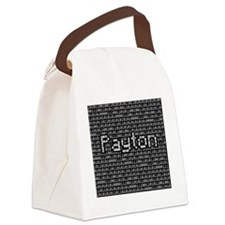 Payton, Binary Code Canvas Lunch Bag