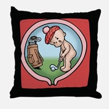 golf-womb-BUT Throw Pillow