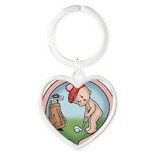 golf-womb-T Heart Keychain
