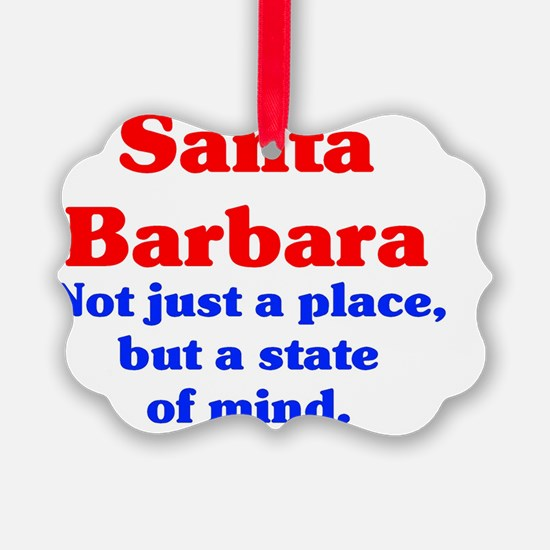 Santa Barbara State Ornament