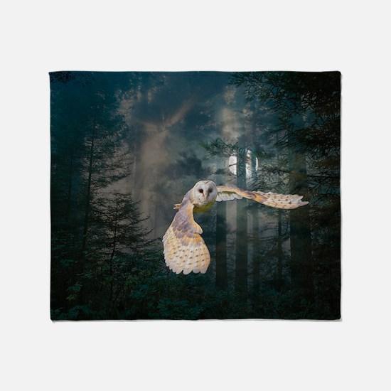 Owl at Midnight Throw Blanket