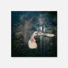 "Owl at Midnight Square Sticker 3"" x 3"""