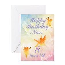 Flower fairy birthday card for niece age 8 Greetin