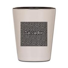 Salvador, Binary Code Shot Glass