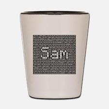 Sam, Binary Code Shot Glass