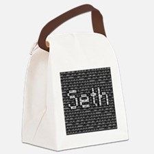 Seth, Binary Code Canvas Lunch Bag